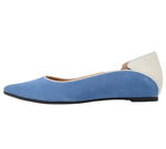 POINTED TOE BLUE & WHITE