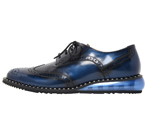SHOES WITH STUDS WELT / BLUE & SILVER STUDS