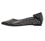 POINTED TOE WITH STUDS / BLACK &amp SILVER STUDS