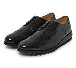 WING TIP SHOES / BLACK
