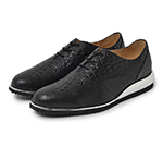 CROCODILE EMBOSSED SHOES / BLACK