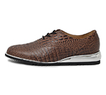 CROCODILE EMBOSSED SHOES / BROWN