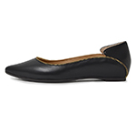 POINTED TOE FLATSHOES / BLACK
