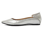 POINTED TOE FLATSHOES / SILVER