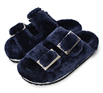 FUR SANDAL / M.BLUE