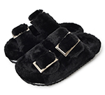 FUR SANDAL / BLACK