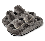 FUR SANDAL / D.GREY