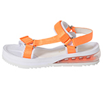 SPORTS SANDAL / WHITE & ORANGE