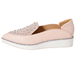POINTED SLIP-ON W/ CRYSTALS / PINK