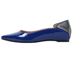 POINTED TOE/BLUE & GUNMETAL