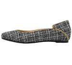 SQUARE TOE/BLACK TWEED