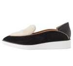 POINTED SLIP-ON BLACK & BEIGE
