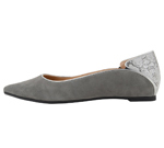 POINTED TOE GREY & SILVER