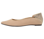 POINTED TOE NUDE & LIGHT GOLD