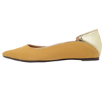 POINTED TOE YELLOW & GOLD