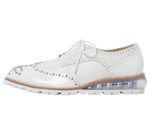 SHOES WITH STUDS / WHITE & SILVER STUDS