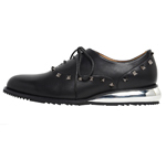 SHOES WITH STUDS / BLACK & GUNMETAL
