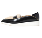 POINTED SLIP-ON / BLACK & BEIGE