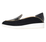 POINTED SLIP-ON / BLACK & DOT PONY