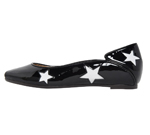 SQUARE TOE / BLACK & WHITE STAR
