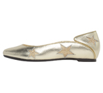 SQUARE TOE / GOLD & GOLD STAR