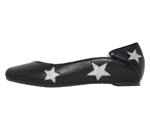 SQUARE TOE / BLACK & SILVER STAR