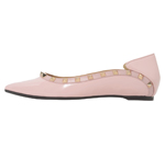 POINTED TOE / WITH STUDS PINK