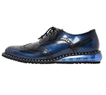 SHOES WITH STUDS WELT / BLUE