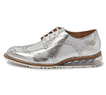 WING TIP SHOES / SILVER
