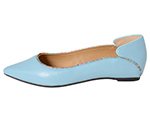 POINTED TOE FLATSHOES / LIGHT BLUE