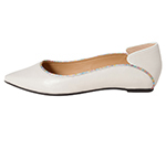POINTED TOE FLATSHOES / WHITE