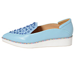 POINTED SLIP-ON W/ CRYSTALS / LIGHT BLUE