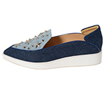 POINTED SLIP-ON W/ STUDS / LIGHT BLUE